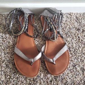 Silver Gladiator Sandal